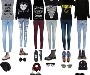 outfit, clothes, and nirvana image
