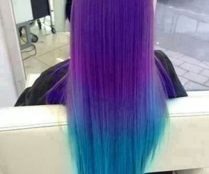 beauty, blue, and hair image