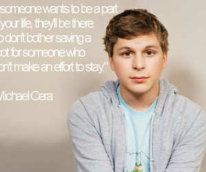 michael cera, quote, and text image