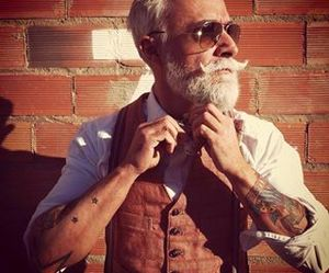 beard, fashion, and moustache image