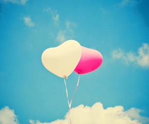 balloons, heart, and love image