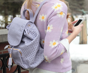 bag, flowers, and girly image