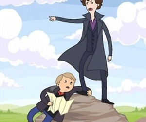 sherlock and adventure time image