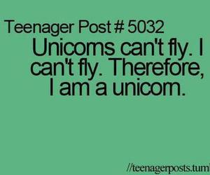 unicorn, fly, and teenager post image