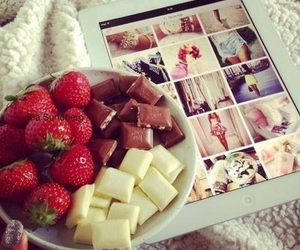 chocolate, food, and white chocolate image