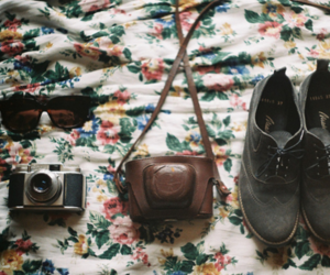 camera, vintage, and shoes image