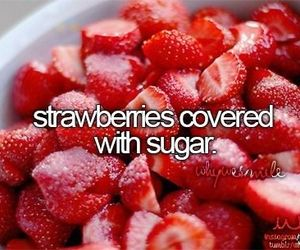 strawberry and sugar image