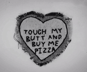 pizza, heart, and butt image