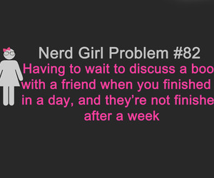 book, nerd, and problem image