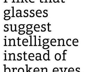 glasses, intelligence, and broken eyes image