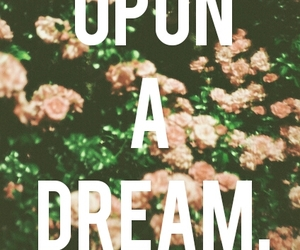 Dream, flowers, and once upon a dream image