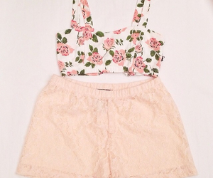 fashion, floral, and high waisted shorts image