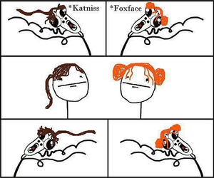 foxface, katniss, and the hunger games image