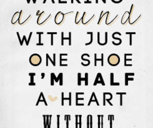 one direction, half a heart, and Lyrics image