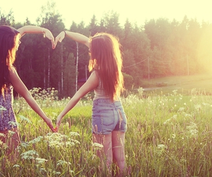 girl, heart, and friends image