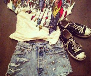 fashion, shorts, and converse image