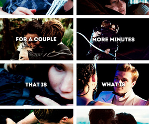 the hunger games, josh hutcherson, and love image