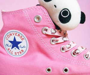all star, converse, and pink image