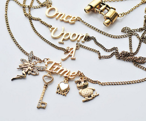 once upon a time, necklace, and gold image