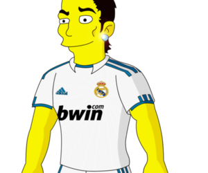 simpsons and cr7 image