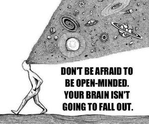 quote, brain, and afraid image