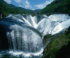 china, waterfall, and cascada image