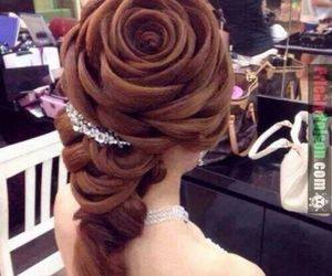 amazing, flower, and hair image