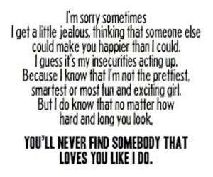 love, quote, and jealous image