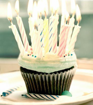 birthday, candles, and cupcake image
