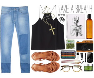 clothing, earthy, and sandals image