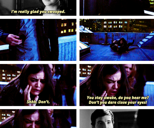 aria, ezra, and pretty little liars image