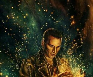 doctor who, christopher eccleston, and art image