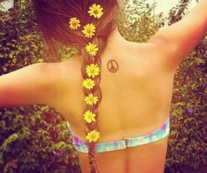 flowers, hippie, and hipster image