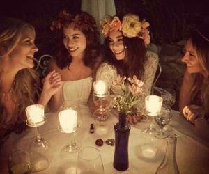 vanessa hudgens, flowers, and friends image