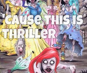princess, disney, and thriller image