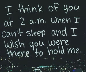 quote, hold me, and night image