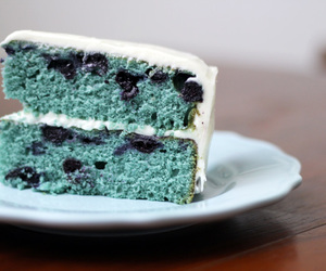 blue, blueberry, and cake image