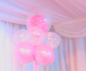 balloons, pink, and sweet image