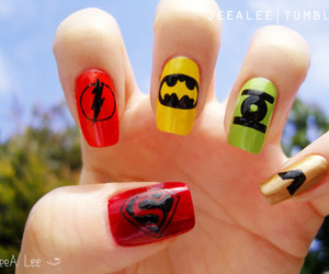 nails, batman, and superman image