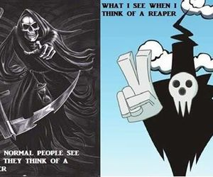 funny, soul eater, and grim reaper image