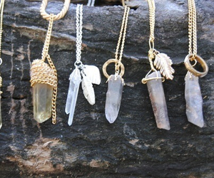 necklace, crystal, and stone image
