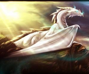 dragon, fantasy, and white image