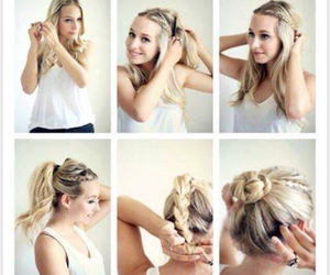 diy, pretty, and updo image