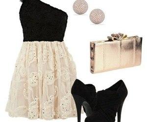 bag, dress, and earrings image