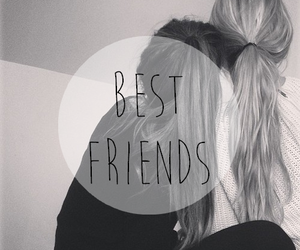 best friends, black and white, and forever image
