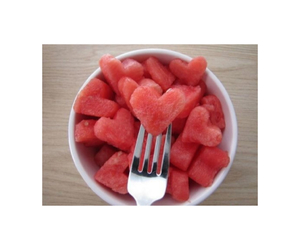healthy, watermellon, and heart image