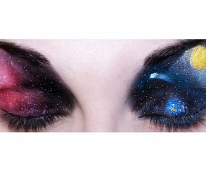 art, make up, and space image