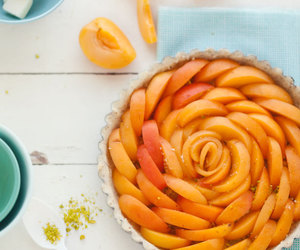 food, apricot, and cake image
