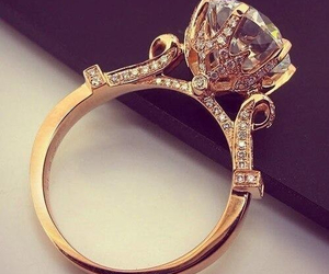 ring gold diamond wedding image