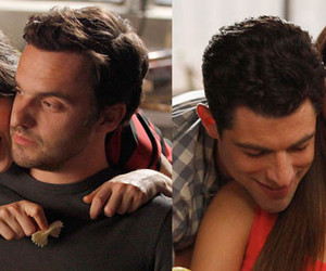 new girl, jess, and couple image